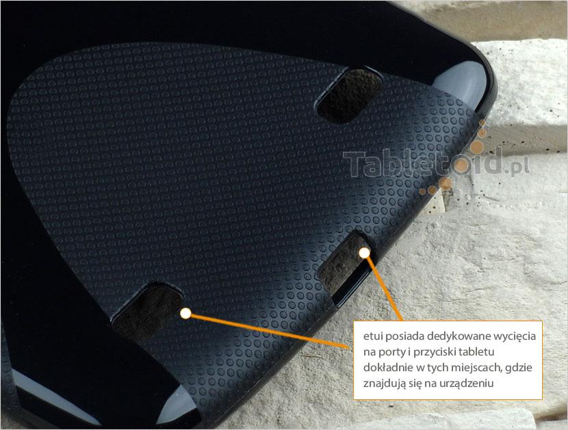 wycięcia silikonowego etui do LG G Pad 7 cali