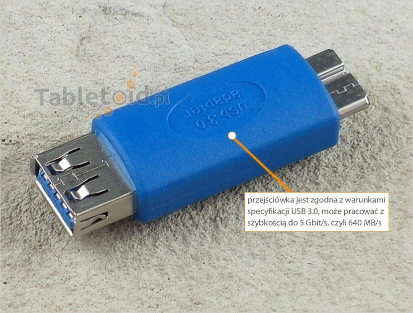 adapter: gniazdo USB 3.0 - wtyk micro USB 3.0