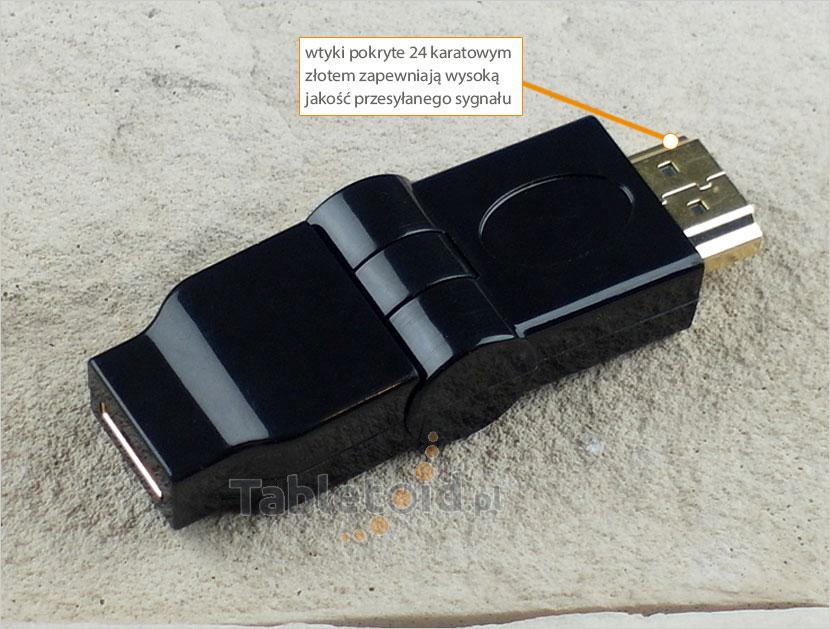 adapter mini HDMI do HDMI kątowy