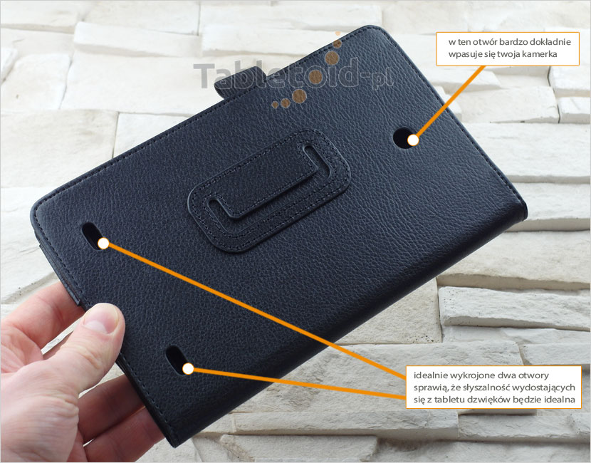Tył etui do tabletu marki LG