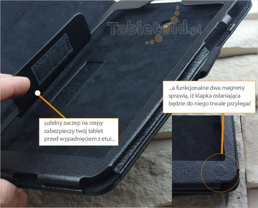 Zaczep na magnes w etui LG G Pad 8.0 V480 490