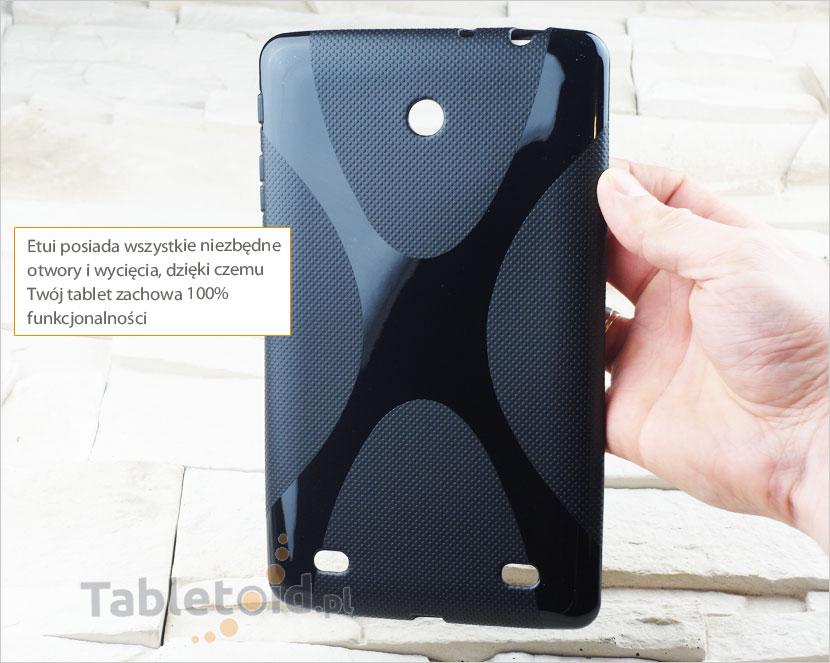 Otwory w silikonowym etui na tablet