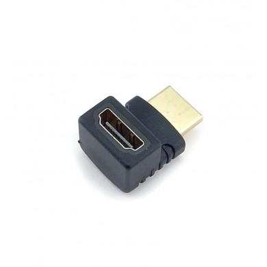 Adapter HDMI żeńsko – męski kątowy 90 stopni