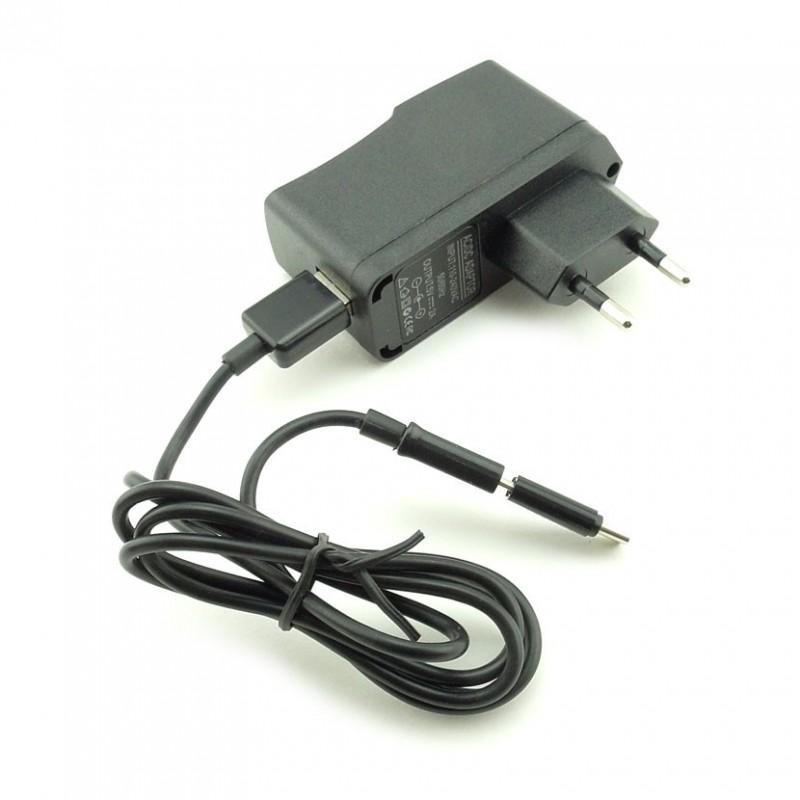 Ładowarka sieciowa z kablem USB przejściówka na wtyk USB C uniwersalna