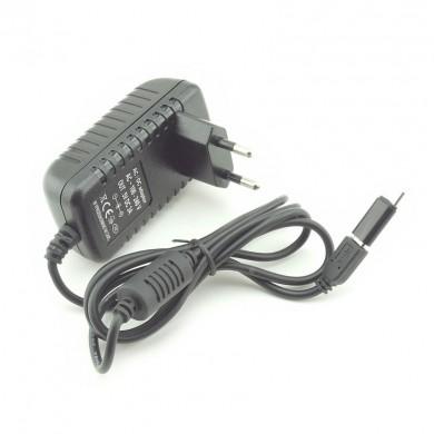 Ładowarka sieciowa micro USB 3 A z przejściówką USB-C (wtyk)