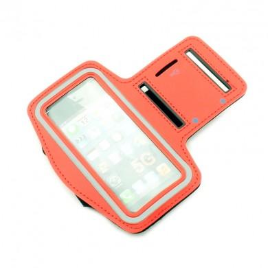 Opaska etui na ramię na telefon Apple iPhone 5G - czerwona