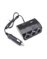 Rozdzielacz gniazda zapalniczki samochodowej 3 plus 2 USB