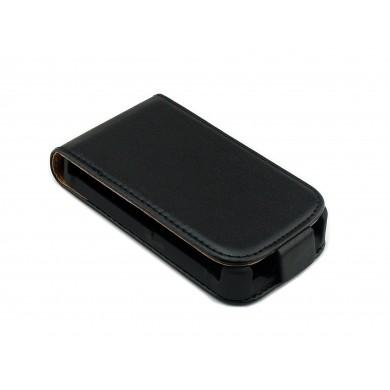 CZARNY zamykany pokrowiec do telefonu Sony Xperia Tipo