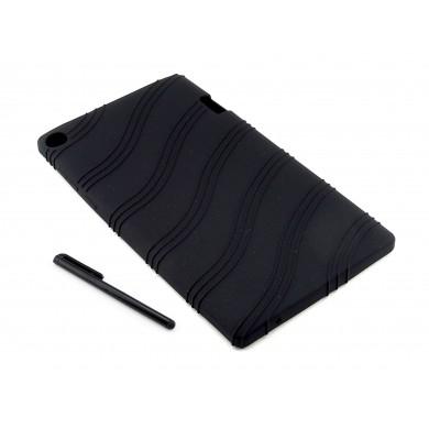 Czarne elastyczne gumowe etui do tabletu Lenovo Yoga Tab 2 A7-20F
