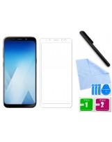 Zaokrąglone szkło hartowane 3D do telefonu Samsung Galaxy A5 2018 na cały ekran, 9H, w dobrej cenie, tempered glass, curved