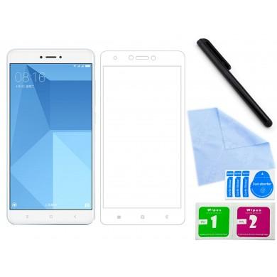 Zaokrąglone szkło hartowane 3D do telefonu Xiaomi Redmi Note 4x- dobra cena, 9h, tempered glass
