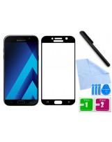 Zaokrąglone szkło hartowane 3D do telefonu Samsung Galaxy A7 2017 na cały ekran, curved, 9H, tempered glass