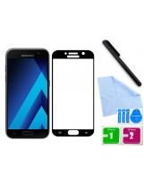 Zaokrąglone szkło hartowane 3D do telefonu Samsung Galaxy A3 2017, na cały ekran, 9H, curved, tempered glass