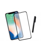 Zaokrąglone szkło hartowane 3D do telefonu Apple iPhone XS 5.8-cala - tempered glass, 9H, curved