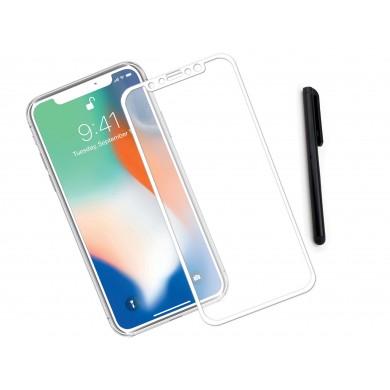 Zaokrąglone szkło hartowane 3D do telefonu Apple iPhone XS 5.8-cala - tempered glass, 9H, curved