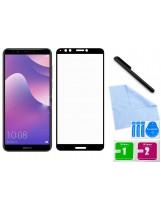 Zaokrąglone szkło hartowane 3D do telefonu Huawei Y7 Prime 2018 LDN-L21, LDN-LX2, LDN-TL10, Honor 7c - kolor CZARNY