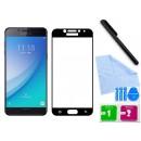 Zaokrąglone szkło hartowane 3D do telefonu Samsung Galaxy C5 Pro - kolor CZARNY