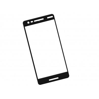 Zaokrąglone szkło hartowane 3D do telefonu Nokia 2.1 - kolor CZARNY