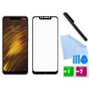 Zaokrąglone szkło hartowane 3D do telefonu Xiaomi Pocophone F1 Poco F1, M1805E10A (2018) - kolor CZARNY