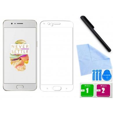 Zaokrąglone szkło hartowane 3D do telefonu OnePlus 5T, tempered glass, w dobrej cenie